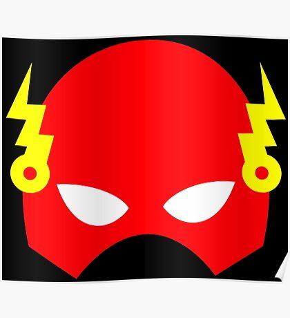 Super hero mask (Flash) Poster