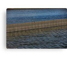 Stripey Water Canvas Print