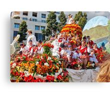 Fun at the Flower Festival Canvas Print