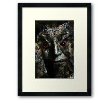 Owlman Framed Print