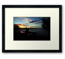 Sunset Silhouettes Burleigh Heads Framed Print