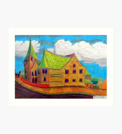 382 - BETHLEHEM CHAPEL, RHOSLLANERCHRUGOG - 02 - DAVE EDWARDS - COLOURED PENCILS - 2013 Art Print