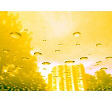 City After Rain (yellow) Photographic Print