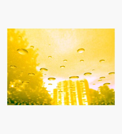 City After Rain (yellow) Photographic Print