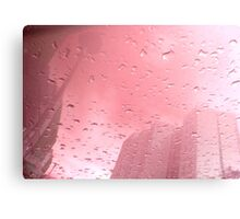 City After Rain (pink) Canvas Print