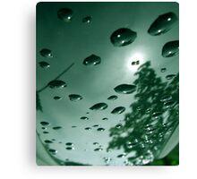 City After Rain (green) Canvas Print