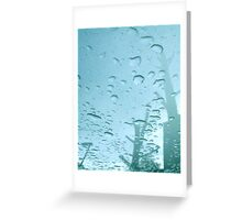 City After Rain (blue) Greeting Card