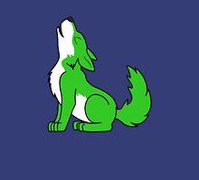 Green Howling Wolf Pup Unisex T-Shirt