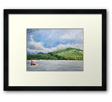 View of Rhinog Fawr, Wales - watercolours Framed Print