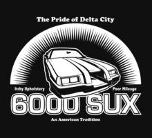 6000 SUX (White Print) T-Shirt