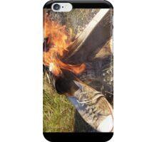 Flaming converse iPhone Case/Skin