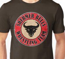 Shermer Bulls Wrestling Team (White Border) Unisex T-Shirt