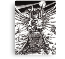 The Graveyard Book, 'The Ghoul Gate' - ink Canvas Print