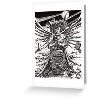 The Graveyard Book, 'The Ghoul Gate' - ink Greeting Card