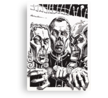 The Graveyard Book, 'The Ghouls' - ink Canvas Print