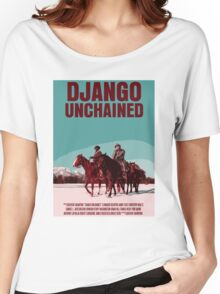 Django Unchained Movie Poster Women's Relaxed Fit T-Shirt