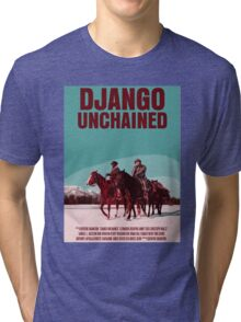 Django Unchained Movie Poster Tri-blend T-Shirt