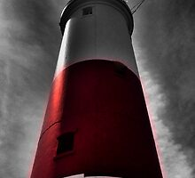 Portland Bill Lighthouse Stands Tall ( Selective Colour ) by CHINOIMAGES