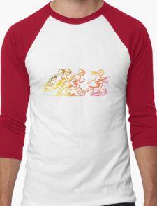 Happy Venture Rainbow Runners Men's Baseball ¾ T-Shirt
