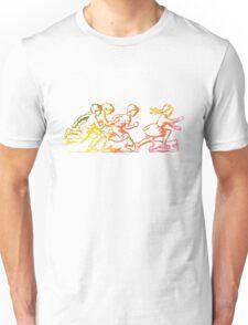 Happy Venture Rainbow Runners Unisex T-Shirt