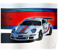 Porsche GT3 Martini Poster