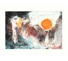 The Sun Rises on Dust and Clay Art Print