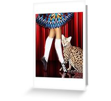 Dancing With My Cat Greeting Card