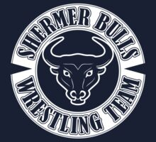 Shermer Bulls Wrestling Team (White Print) by GritFX