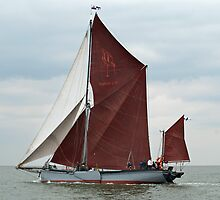 Sailing Barge 'Xylonite' by Paul Woloschuk