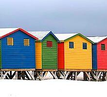 Muizenberg Beach Huts by fernblacker