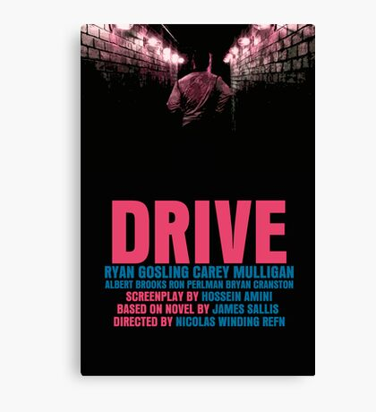 Drive Movie Poster Canvas Print