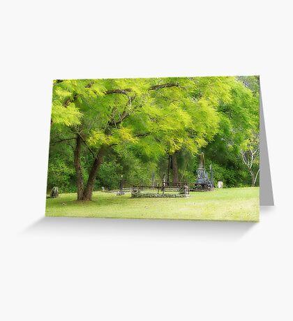 Shades of green 01 Greeting Card