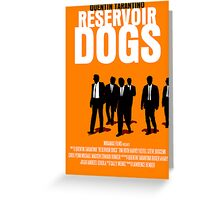 Reservoir Dogs Movie Poster Greeting Card