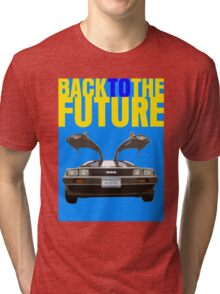 Back To The Future Movie Poster Tri-blend T-Shirt