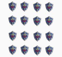 Hylian Shield Sticker Sheet - Small. by Eugenenoguera