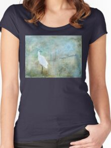 """Seascape """"Happy Chanukah"""" ~ Greeting Cards Plus More Women's Fitted Scoop T-Shirt"""