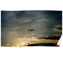 British Aerospace 146 at sunset  Poster