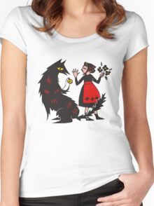 What's the time, Mr Wolf Women's Fitted Scoop T-Shirt