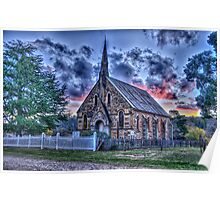 That Old Time Religion - St Paul's Hill End NSW - The HDR Experience Poster