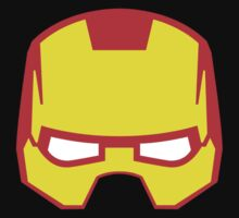 Super hero mask (Iron man) Baby Tee
