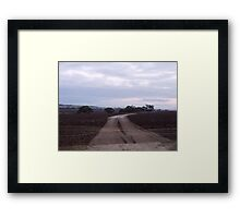 241/365 the curious allure of a road from nowhere to nowhere Framed Print