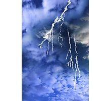 lightening from a cloudy stormy sky Photographic Print