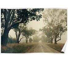 Down a foggy lane Poster