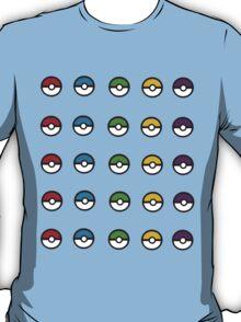 Mini Pokeballs Sticker Sheet. T-Shirt