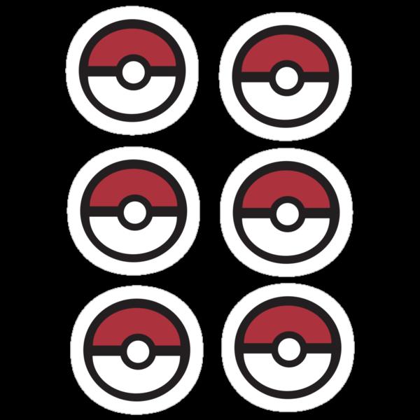 6 Pokeball Stickers. by Eugenenoguera