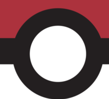 Large Pokeball Sticker. Sticker