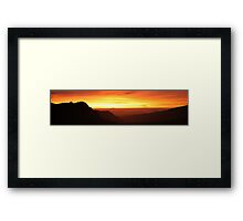 Mountain morning panorama Framed Print