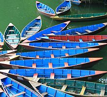 Phewa Tal Rowboats by Jamie Mitchell