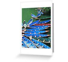 Phewa Tal Rowboats Greeting Card