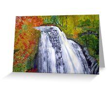 Beautiful Waterfall Greeting Card
